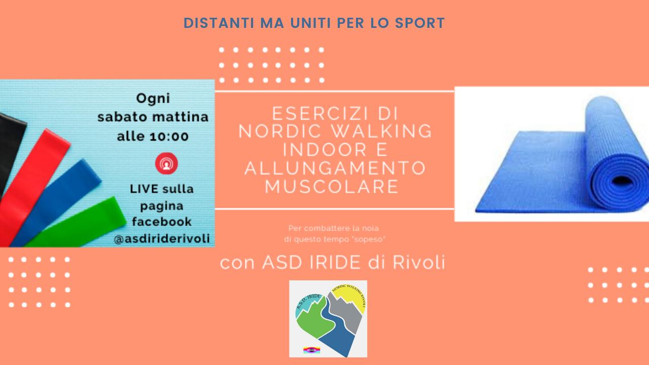 LIVE Esercizi di Nordic Walking Indoor e allungamento muscolare