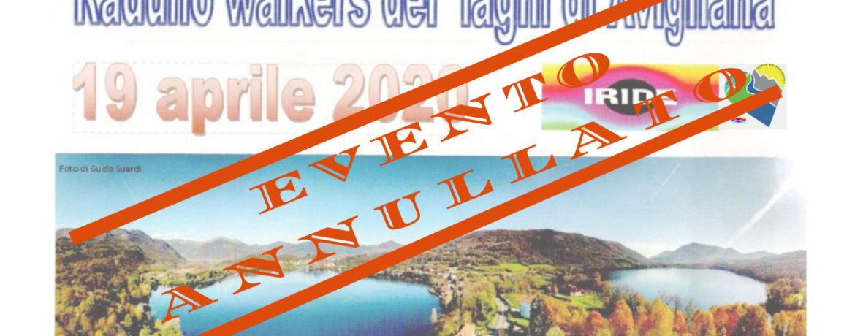Raduno walkers laghi di Avigliana annullato