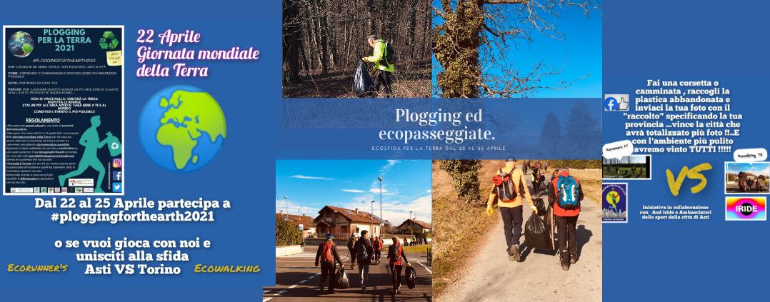 Copertina di Plogging ed ecopasseggiate. Ecosfida per la terra dal 22 al 25 aprile